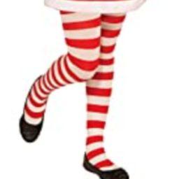 Forum Novelties Novelty Candy Cane Striped Christmas Tights, Child Large | Amazon (US)