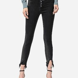 Flying Monkey High Waisted Button Fly Distressed Skinny Jeans, Women's Size:24 | Express