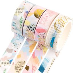 YUBBAEX Gold Washi Tape IG Style Foil Masking Tape Set Decorative for Arts, DIY Crafts, Bullet Jo...   Amazon (US)