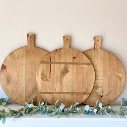 Large Circular Breadboard, Display Board, Charcuterie Board, Repurposed, Reclaimed Wood, Vintage ... | Etsy (US)