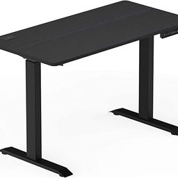 SHW Electric Memory Preset Height Adjustable Computer Desk, 48 x 24 Inches, Black | Amazon (US)