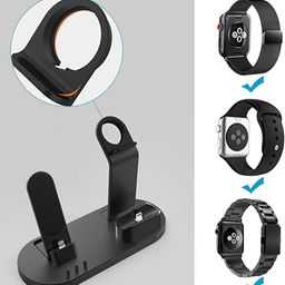 OLEBR 3 in 1 Charging Stand Compatible with iWatch Series 6/SE/5/4/3/2/1, AirPods Pro and iPhone ... | Amazon (US)