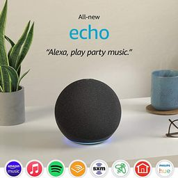 All-new Echo (4th Gen, 2020 release) | With premium sound, smart home hub, and Alexa | Charcoal | Amazon (US)
