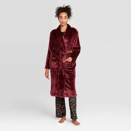 Women's Cozy Plush Robe - Stars Above Burgundy XS/S, Red   Target