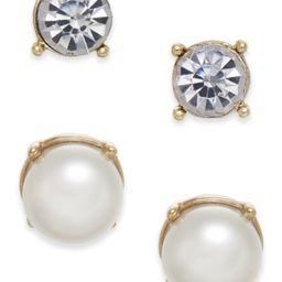 Charter Club Gold-Tone Colored Imitation Pearl 2-Pc. Set Stud Earrings, Created for Macy's   Macys (US)