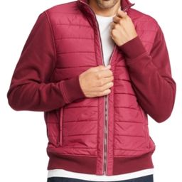 Tommy Hilfiger Men's Big & Tall David Mix-Media Full-Zip Jacket | Macys (US)