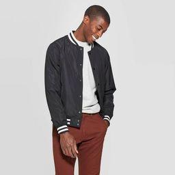Men's Varsity Bomber Jacket - Goodfellow & Co™ Black | Target