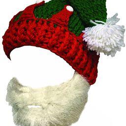 Kafeimali Unisex Christmas Winter Knitted Crochet Beanie Santa Hat Bearded Caps | Amazon (US)
