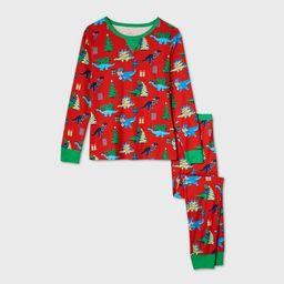 Women's Holiday Dinosaur Print Matching Family Pajama Set - Wondershop™ Red | Target