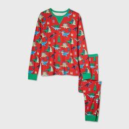 Men's Holiday Dinosaur Print Matching Family Pajama Set - Wondershop™ Red | Target