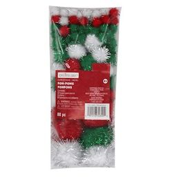 Tinsel Pom-Poms by Creatology™ Christmas   Michaels Stores