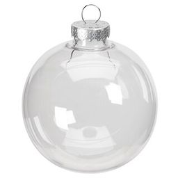 """3.5"""" Clear Plastic Ball Ornament by ArtMinds™   Michaels Stores"""