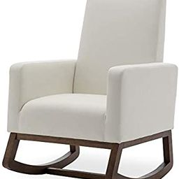 BELLEZE Modern Rocking Chair Upholstered Fabric High Back Arm Chair Padded Seat for Living Room, ... | Amazon (US)