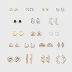 Acrylic Stones, Multi Plate, Multi Color Paint Multipack Earring Set 18pc - Wild Fable™ | Target