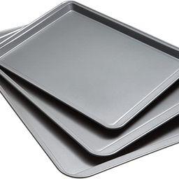 Goodcook 08929002199 Nonstick Bakeware, Set Of 3 Non-Stick Cookie Sheet, Multicolor | Amazon (US)