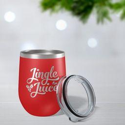 Personalized Wine Tumbler, Jingle Juice, Custom Christmas Gift, Holiday Party Gift, Office Xmas G...   Etsy (US)