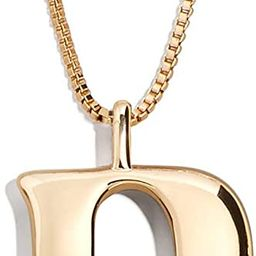 Initial Necklace for Women 26 Letters Tiny A-Z 18k Gold Plate Pendant Handmade Long Chain Monogra... | Amazon (US)
