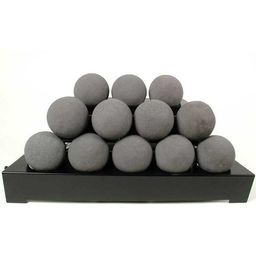 Rasmussen 24-Inch Dark Gray ALTERNA FireBall Set With Vent Free Propane Black Chassis Burner - Va... | BBQ Guys