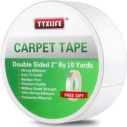 YYXLIFE Double Sided Carpet Tape for Area Rugs Carpet Adhesive Rug Gripper Removable Multi-Purpos... | Amazon (US)