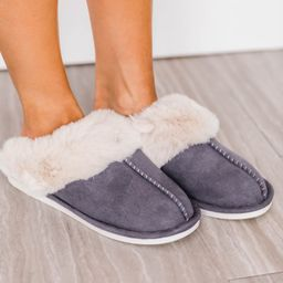 I'm Walking On Air Grey Slippers SALE | The Pink Lily Boutique