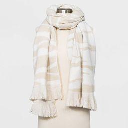 Women's Zebra Print Blanket Scarf - A New Day™ Beige | Target