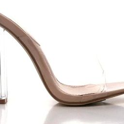 Cape Robbin Fusion Clear Chunky Block High Heels for Women, Transparent Booties for Women | Amazon (US)