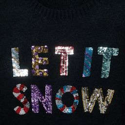 ASOS DESIGN Curve Charity Christmas jumper sequin let it snow for ASOS Foundation | ASOS (Global)