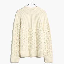Pointelle Stitch-Mix Mockneck Sweater | Madewell