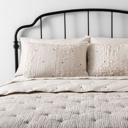 Stripe and Stitch Embroidery Comforter & Sham Set - Hearth & Hand™ with Magnolia | Target