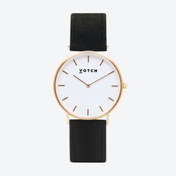 36mm Watch in Gold with Pinatex Strap | Fy! (UK)