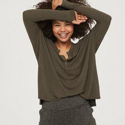 OFFLINE Ribbed Henley T-Shirt | American Eagle Outfitters (US & CA)