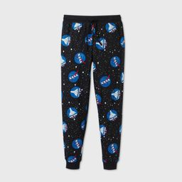 Men's NASA Space Pajama Pants - Black L   Target