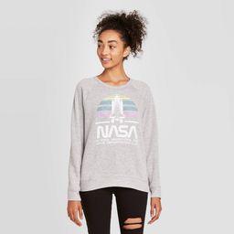 Women's NASA Graphic Sweatshirt - Gray M   Target