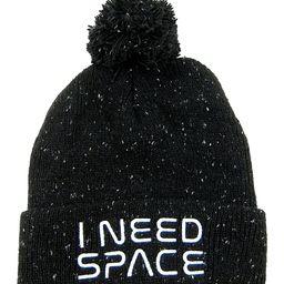 Flash E-Sales Beanies - NASA Black & White 'I Need Space' Pom-Pom Beanie   Zulily