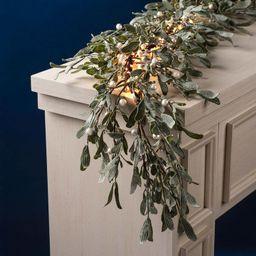 Frosted Mistletoe Garland with 100 LEDs | Lights.com