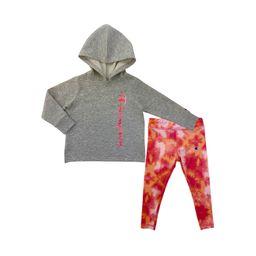 Champion Girls 2T-6X Tie Dye Script Fleece Hoodie and Legging, 2-Piece Active Set | Walmart (US)