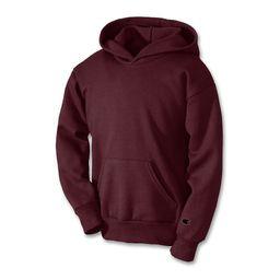 Unisex Youth Double Dry Action Fleece Pullover Hood, Maroon - S | Walmart (US)