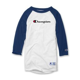 Champion Kids Baseball Tee, S, White/Navy, S, White/Navy | Walmart (US)