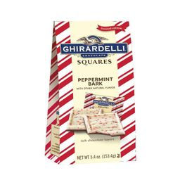 Ghirardelli Holiday Peppermint Bark Chocolate Squares - 5.4oz   Target