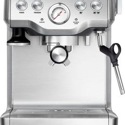 Breville - the Infuser Manual Espresso Machine with 15 bars of pressure, Milk Frother and Water filt | Best Buy U.S.