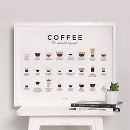 Coffee Guide Print, Coffee Print, Coffee Poster, Coffee Art, Coffee Wall Art, Coffee Gifts, Coffe... | Etsy (CAD)
