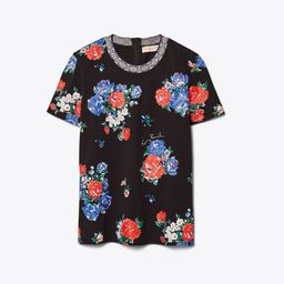 Floral Embellished T-Shirt | Tory Burch (US)