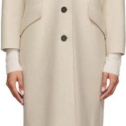 Beige Pressed Virgin Wool Great Coat   SSENSE