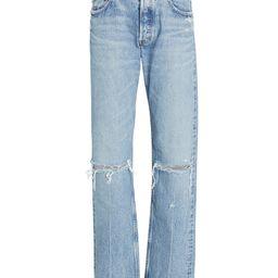 MOUSSY VINTAGE Viola Wide Straight-Leg Jeans, Light Wash Denim 23   INTERMIX