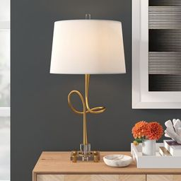 "Medrano 30.25"" Gold Table Lamp   Wayfair North America"