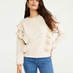 Ruffle Sweatshirt   Ann Taylor   Ann Taylor (US)