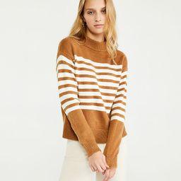 Striped Mock Neck Sweater   Ann Taylor   Ann Taylor (US)
