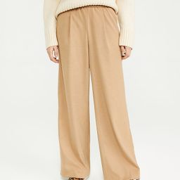 The Petite Flannel Wide Leg Pull On Pant   Ann Taylor   Ann Taylor (US)
