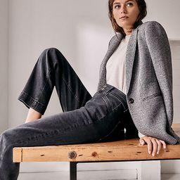 Sculpting Pocket Easy Straight Jeans in Dark Grey Wash | Ann Taylor | Ann Taylor (US)