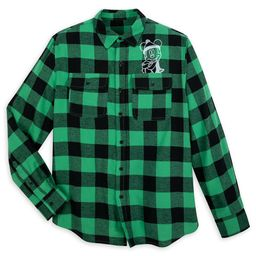 Mickey Mouse Plaid Flannel Shirt for Adults | shopDisney